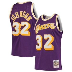 NBA NIKE Los Angeles Lakers Magic Johnson #32